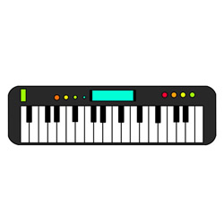 How to Draw an Electronic Organ Easy Step by Step for Kids