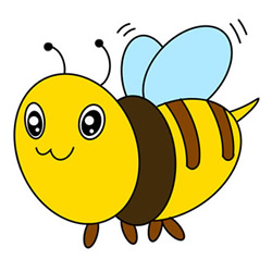 How to Draw a Flying Worker Bee Step by Step for Kids