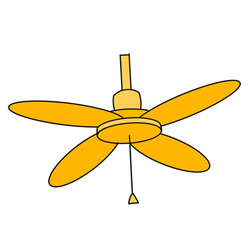 How to Draw a Ceiling Fan Easy Step by Step for Kids