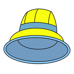 Easy Hat Drawing Step by Step for Kids