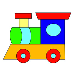 How to Draw a Train Toy Easy Step by Step for Kids