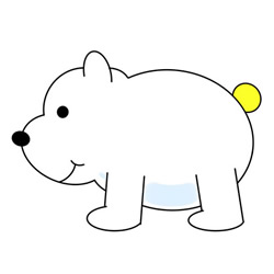 Cartoon Polar Bear Drawing Easy Step by Step for Kids