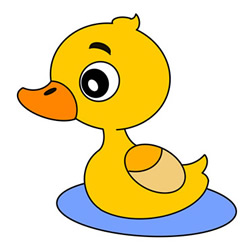 Little Duck Drawing Step by Step for Kids
