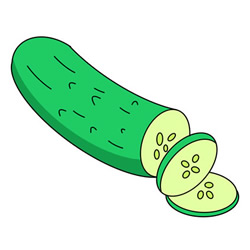 Cucumber Drawing Step by Step for Kids