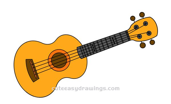 Guitar Drawing Tutorial Easy For Kids Cute Easy Drawings