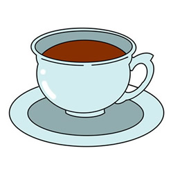 How to Draw a Cup of Coffee Easy Step by Step for Kids