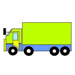 Cute Truck Drawing Easy Step by Step for Kids