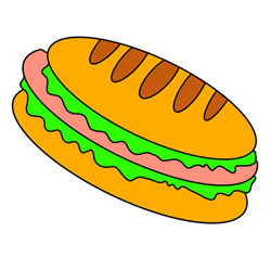 Hot Dog Drawing Easy Step by Step for Kids