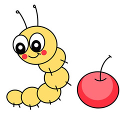 Cute Cartoon Caterpillar Drawing Step by Step for Kids