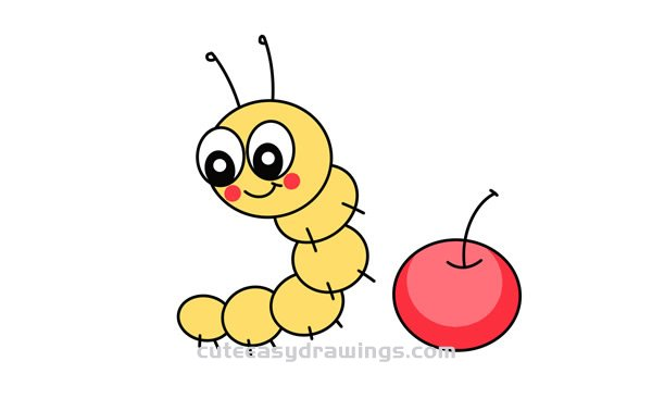 Cute Cartoon Caterpillar Drawing Step By Step For Kids Cute Easy