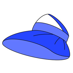Sun Hat for Women Drawing Tutorial for Kids