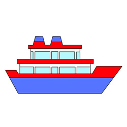 Cute Passenger Ship Drawing Tutorial Easy for Kids