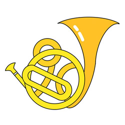 How to Draw a French Horn Step by Step for Kids