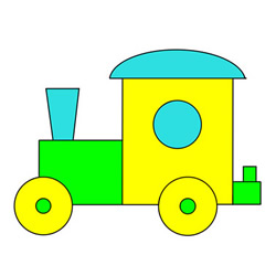 How to Draw a Locomotive Toy Easy Step by Step for Kids
