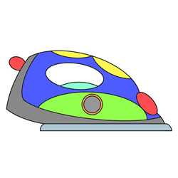 Cute Electric Iron Drawing Tutorial Easy for Kids