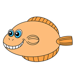 Funny Flounder Drawing Tutorial Easy for Kids