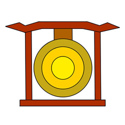 Gong Drawing Easy Step by Step for Kids