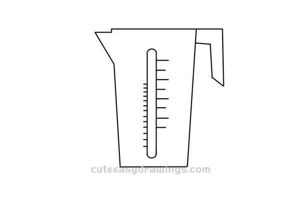 How to Draw a Measuring Cup Easy Step by Step for Kids