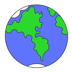 How to Draw Earth Easy Step by Step for Kids
