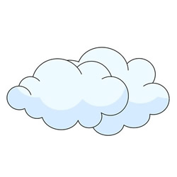 How to Draw Clouds Easy Step by Step for Kids