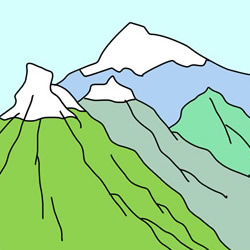 How to Draw Mountains Easy Step by Step for Kids