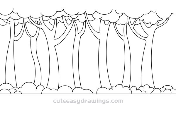 How to Draw Cute Woods Easy Step by Step for Kids
