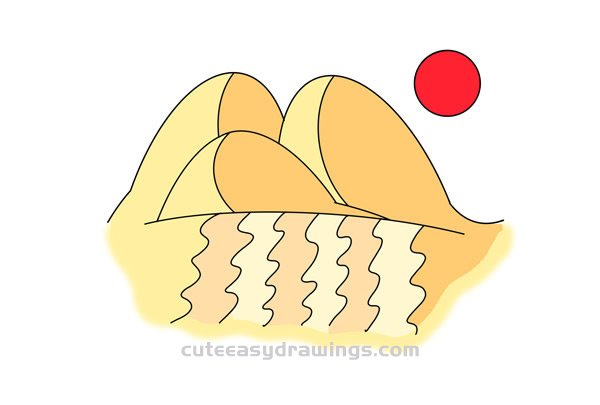 How to Draw Dunes Easy Step by Step for Kids