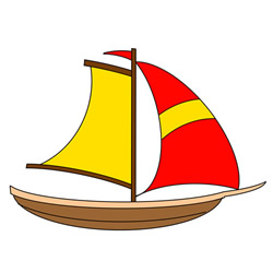 Cute Sailboat Drawing Tutorial Easy for Kids