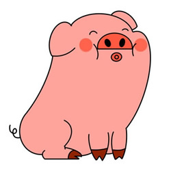 Cute Cartoon Pig Easy Drawing Step by Step for Kids