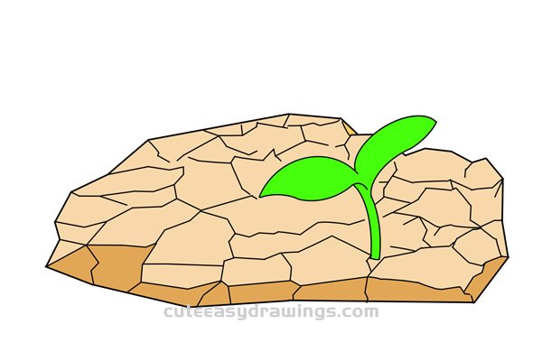 How to Draw Dry Land Easy Step by Step for Kids