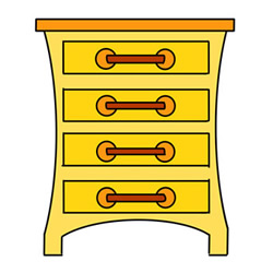 How to Draw a Chest of Drawers Easy Step by Step for Kids