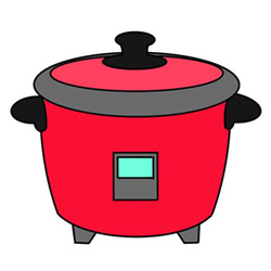 Easy Rice Cooker Drawing Step by Step for Kids