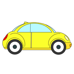 How to Draw a Vw Beetle Easy Step by Step for Kids