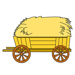 How to Draw an Agricultural Wooden Cart Step by Step for Kids