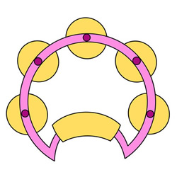 How to Draw a Tambourine Easy Step by Step for Kids