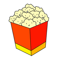 How to Draw a Box of Popcorn Easy Step by Step for Kids