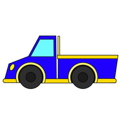 How to Draw a Pickup Truck Easy Step by Step for Kids