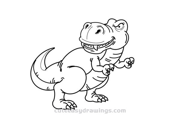 How to Draw a Realistic Tyrannosaurus Rex Step by Step for ...