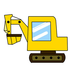How to Draw a Cute Excavator Easy for Kids
