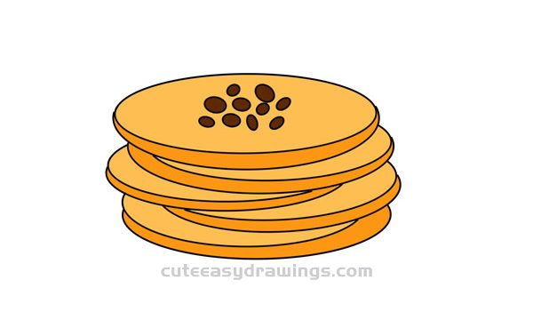 How to Draw Biscuits Easy Step by Step for Kids