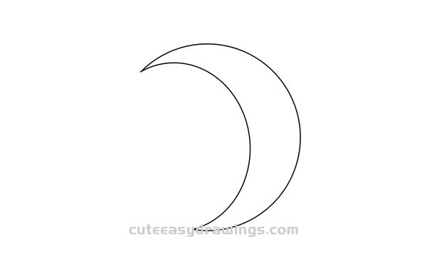 How to Draw the Moon at Night Easy Step by Step for Kids
