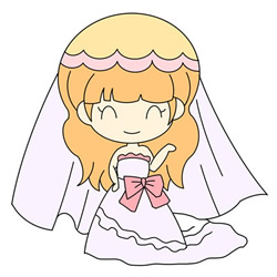 How to Draw a Cute Cartoon Bride Easy Step by Step for Kids