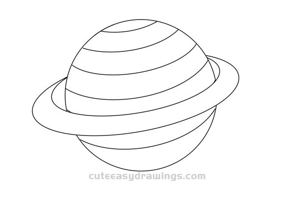 How to Draw Mars Planet Easy Step by Step for Kids