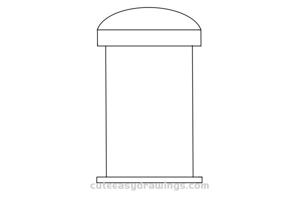 How to Draw a Phone Booth Easy Step by Step for Kids