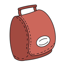 How to Draw a Leather Bag Easy Step by Step for Kids