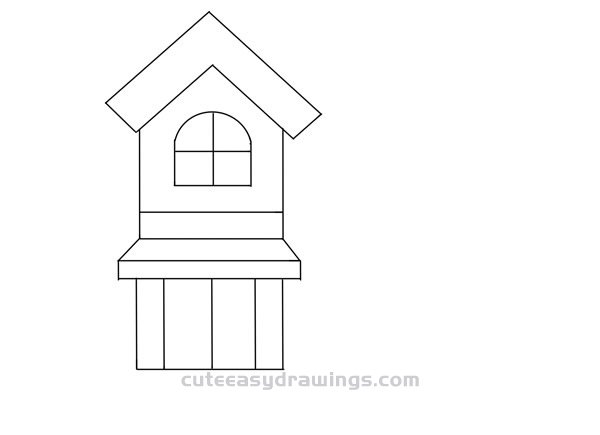 How to Draw a Cute Building Easy Step by Step for Kids