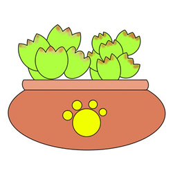 How to Draw Succulents in Pot Easy Step by Step for Kids