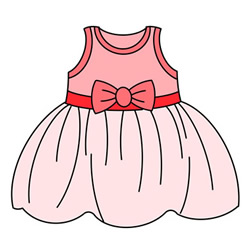 How to Draw a Children's Dress Easy Step by Step for Kids