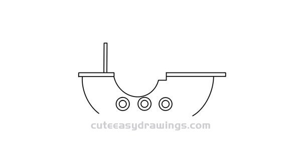 How to Draw a Pirate Ship at Sea Step by Step for Kids