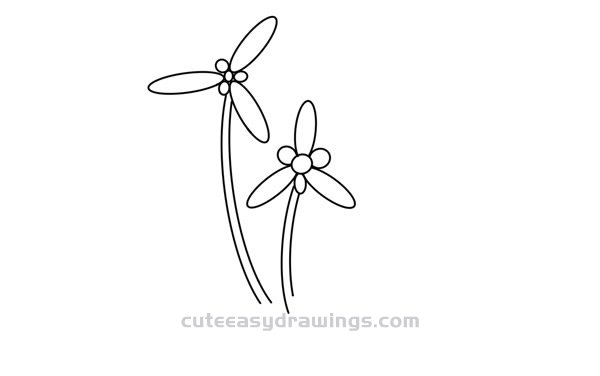 How to Draw Flowers in the Grass Easy Step by Step for Kids